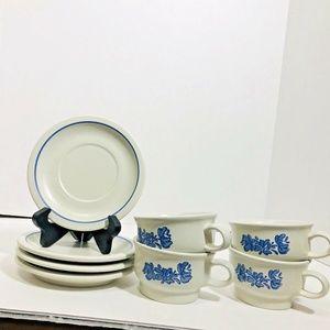 Pfaltzgraff Yorktowne White Stoneware Set for Four